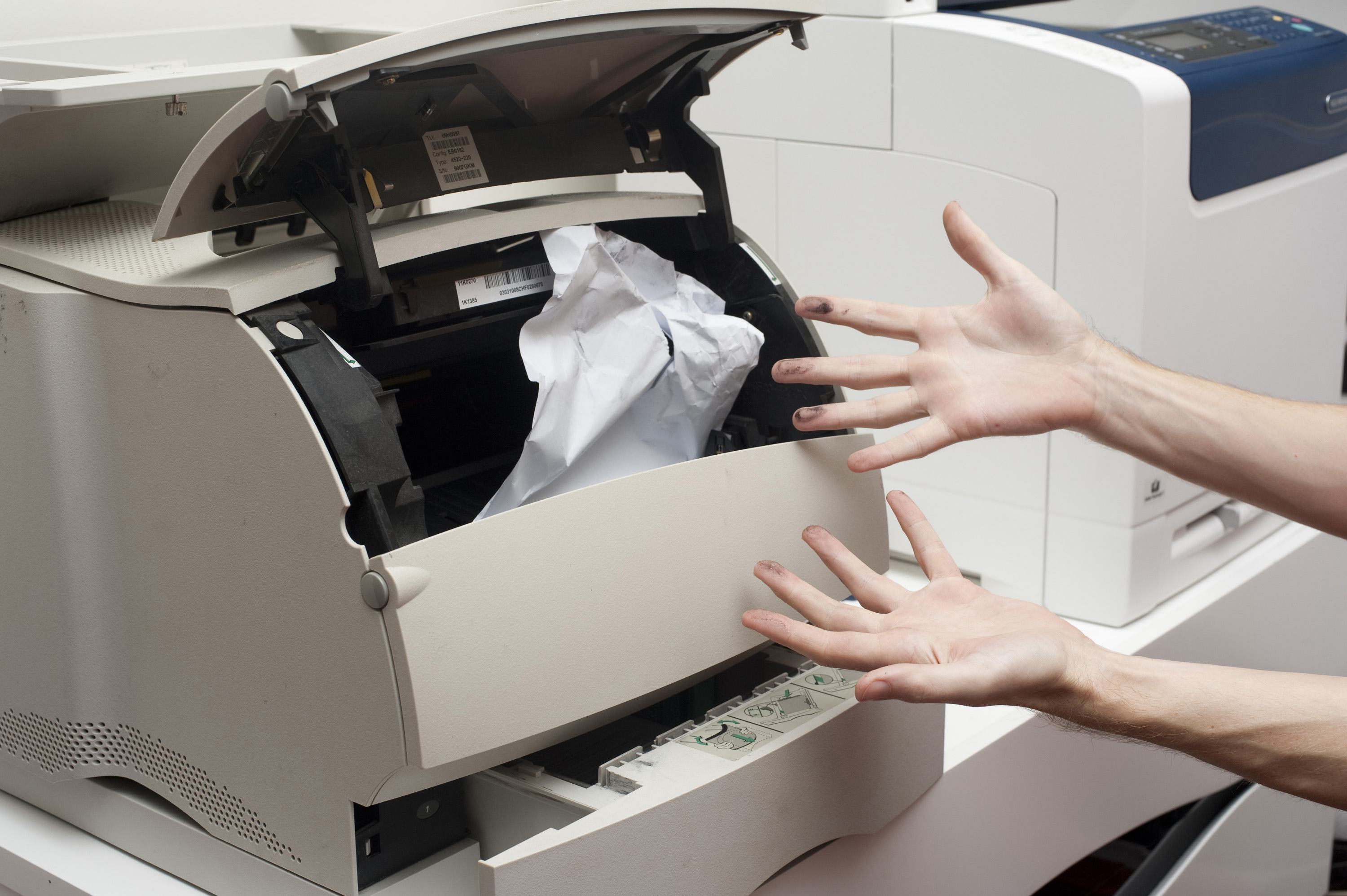 When working with any printer, it is inevitable that you will encounter a paper jam. The following is a general guide for removing paper that has become stuck in one or more locations.